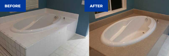 Bathroom tub remodel