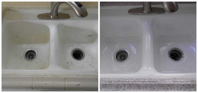 Before & After: Kitchen Sink Refinishing