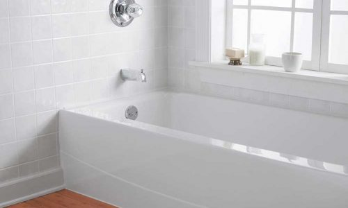 White tile bathtub refinishing