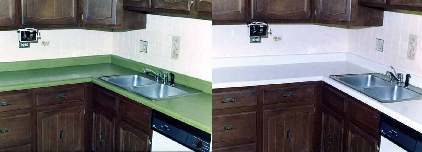 Before And After: Kitchen Counter Top Refinishing