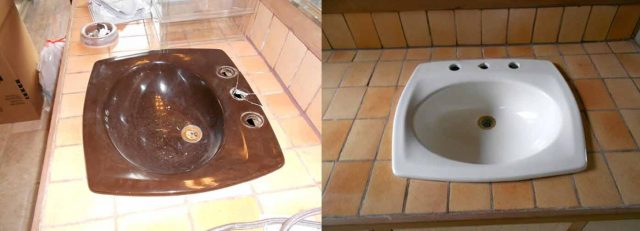 sink before and after photo